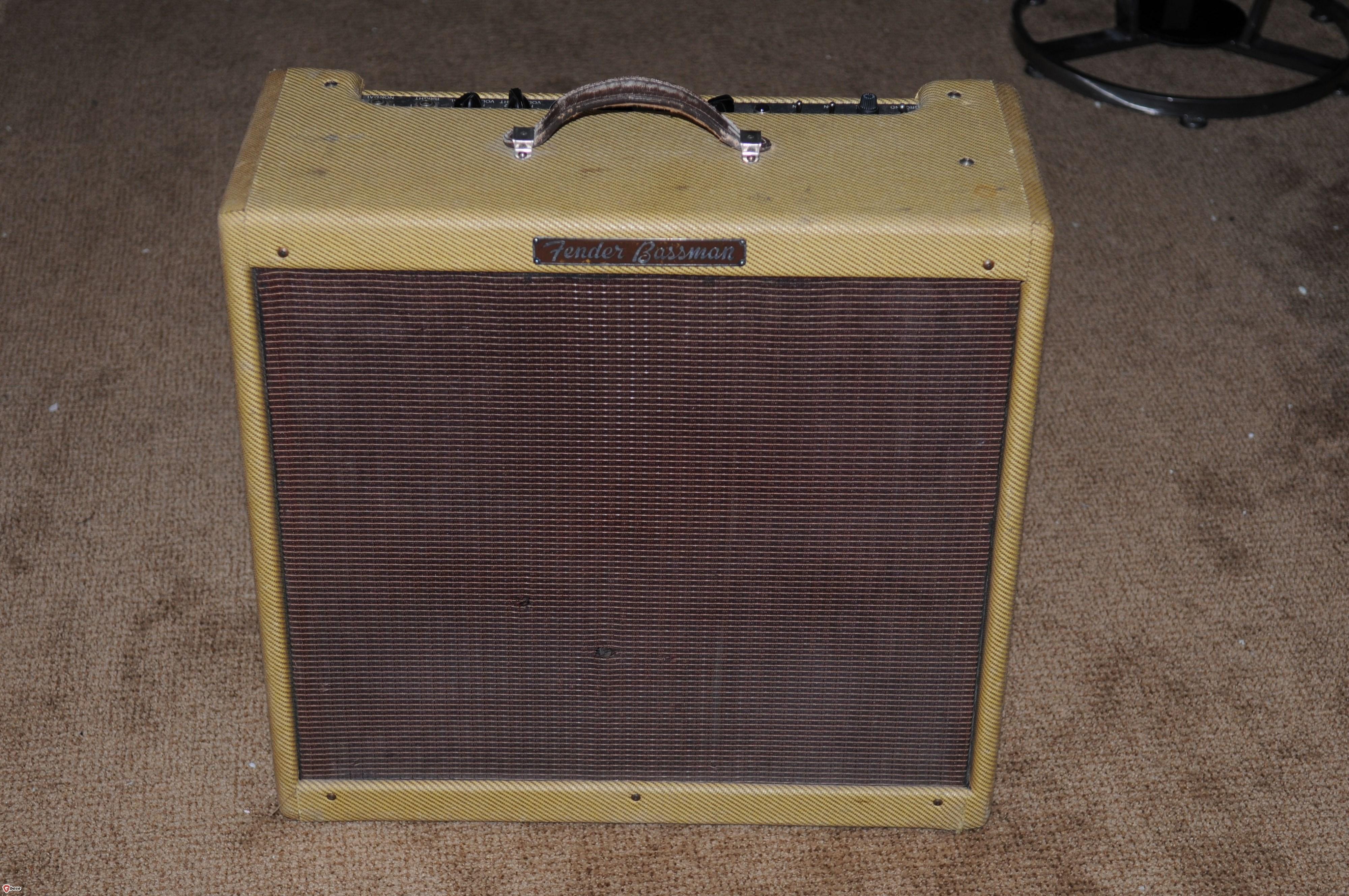 1959 Fender® VINTAGE (not reissue) 59 Bassman® BUGS HENDERSON Owned