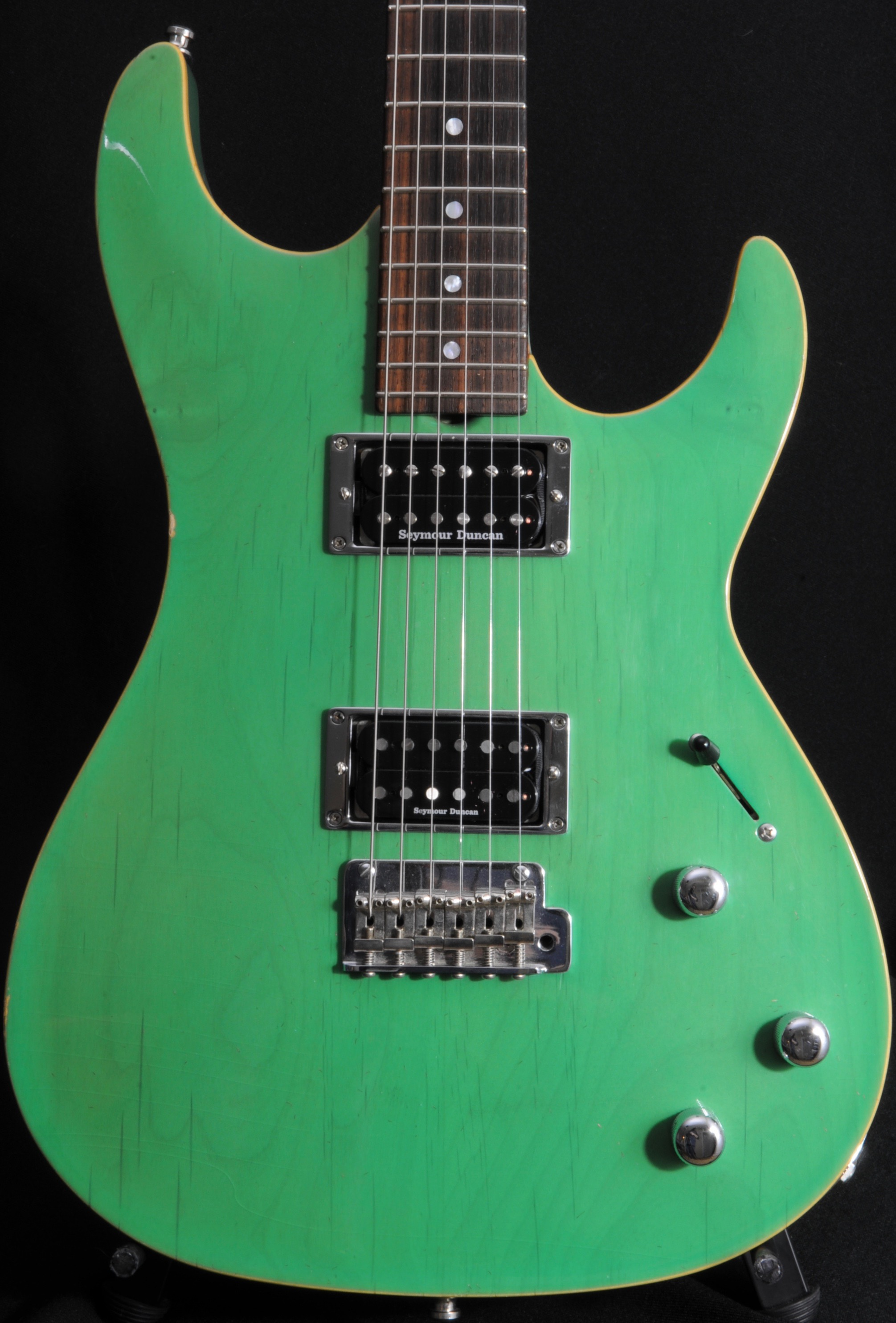 "Don Grosh – Custom Carve Top ""Garden Tool Green"""