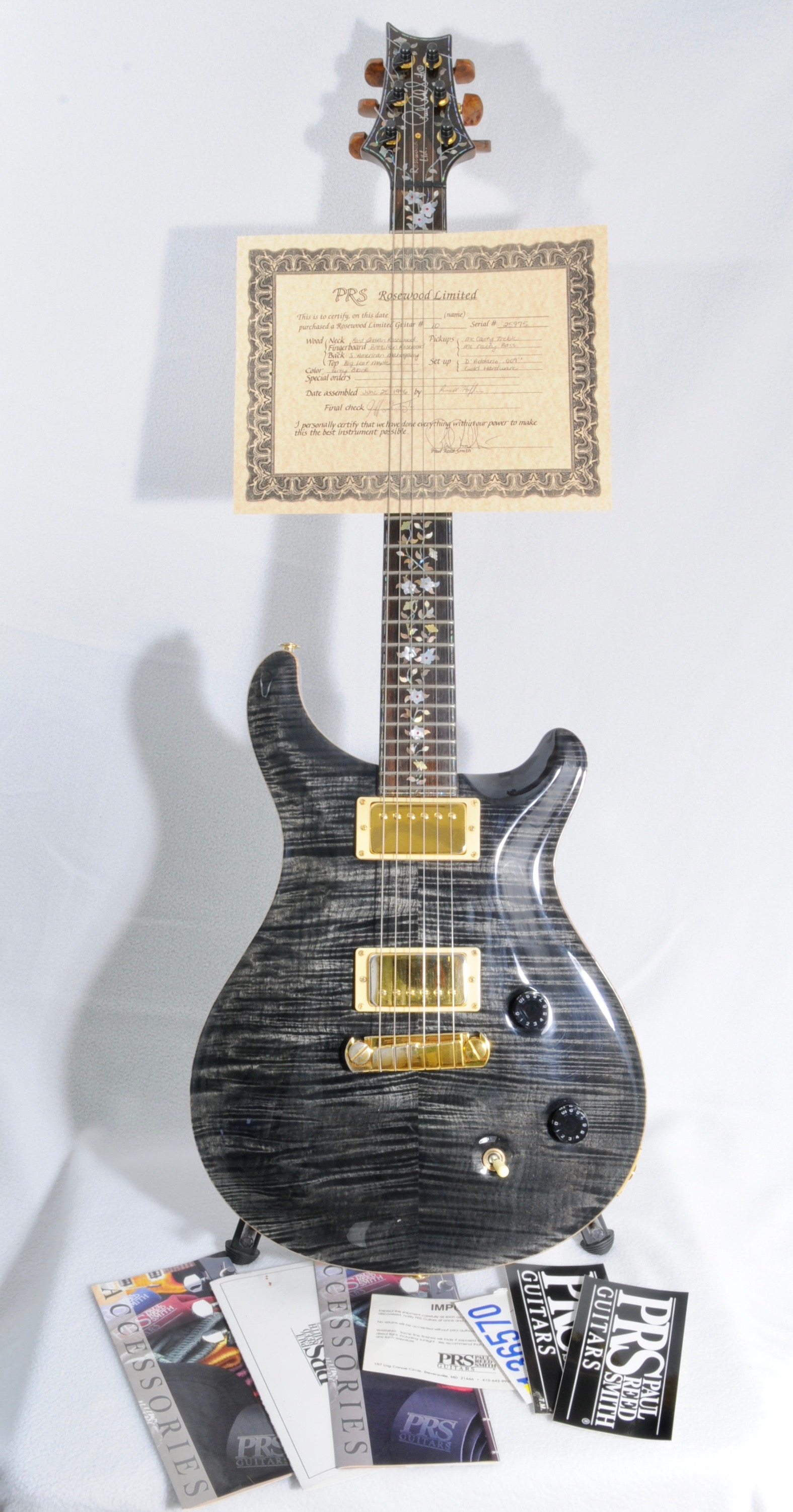 1996 PRS Rosewood Limited (#10 of 100)