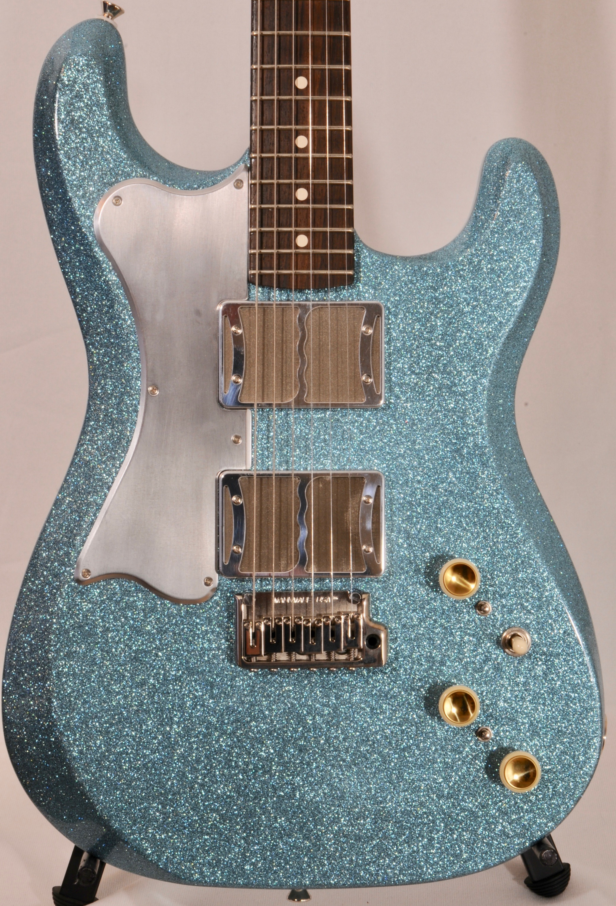 Ronin Mirari  – BRAND NEW – Custom BLUE SPARKLE w Matching Headstock