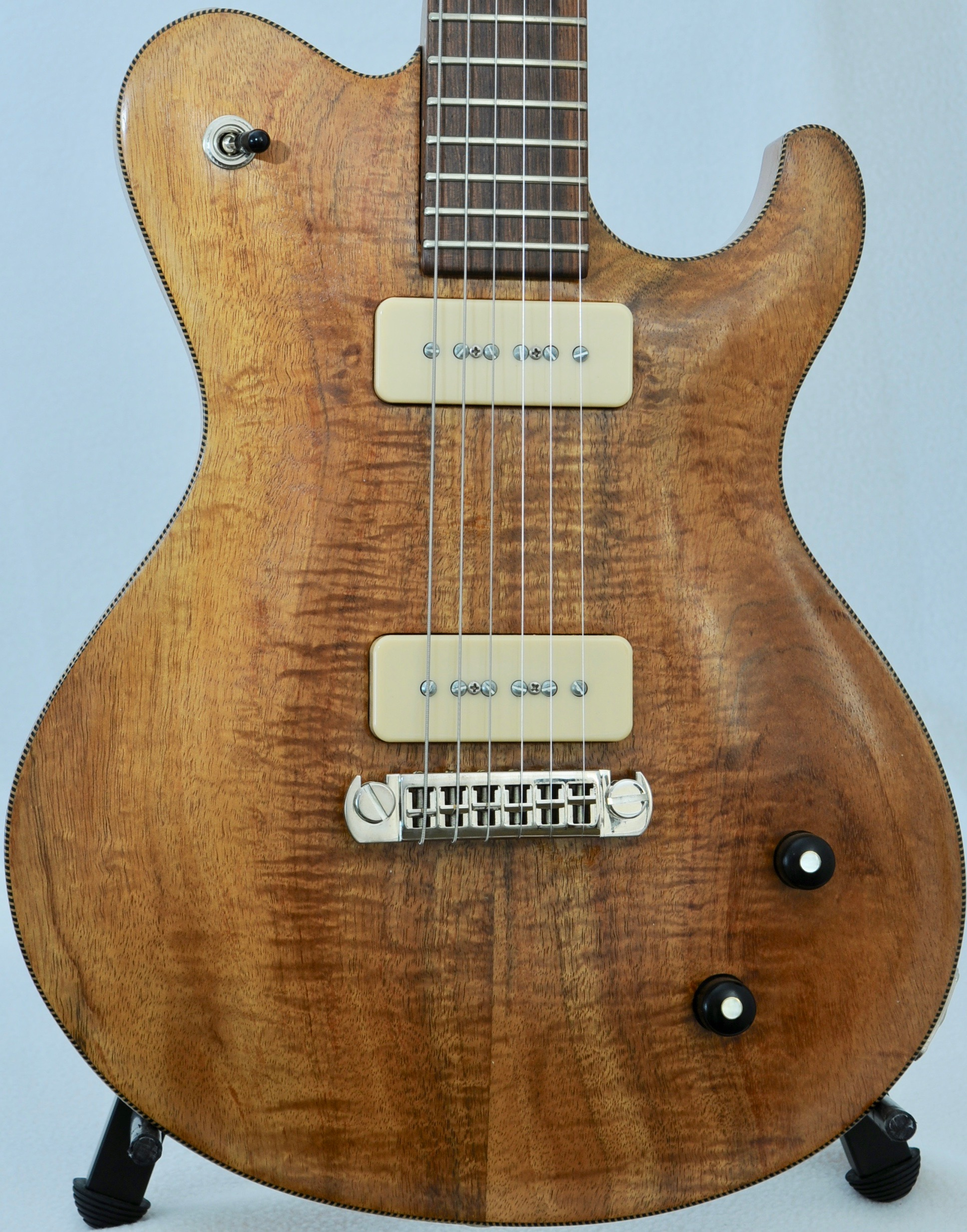 SCALA Classic Custom VENT TOP w SOLID Bolivian RW Neck & BRAZ RW Board