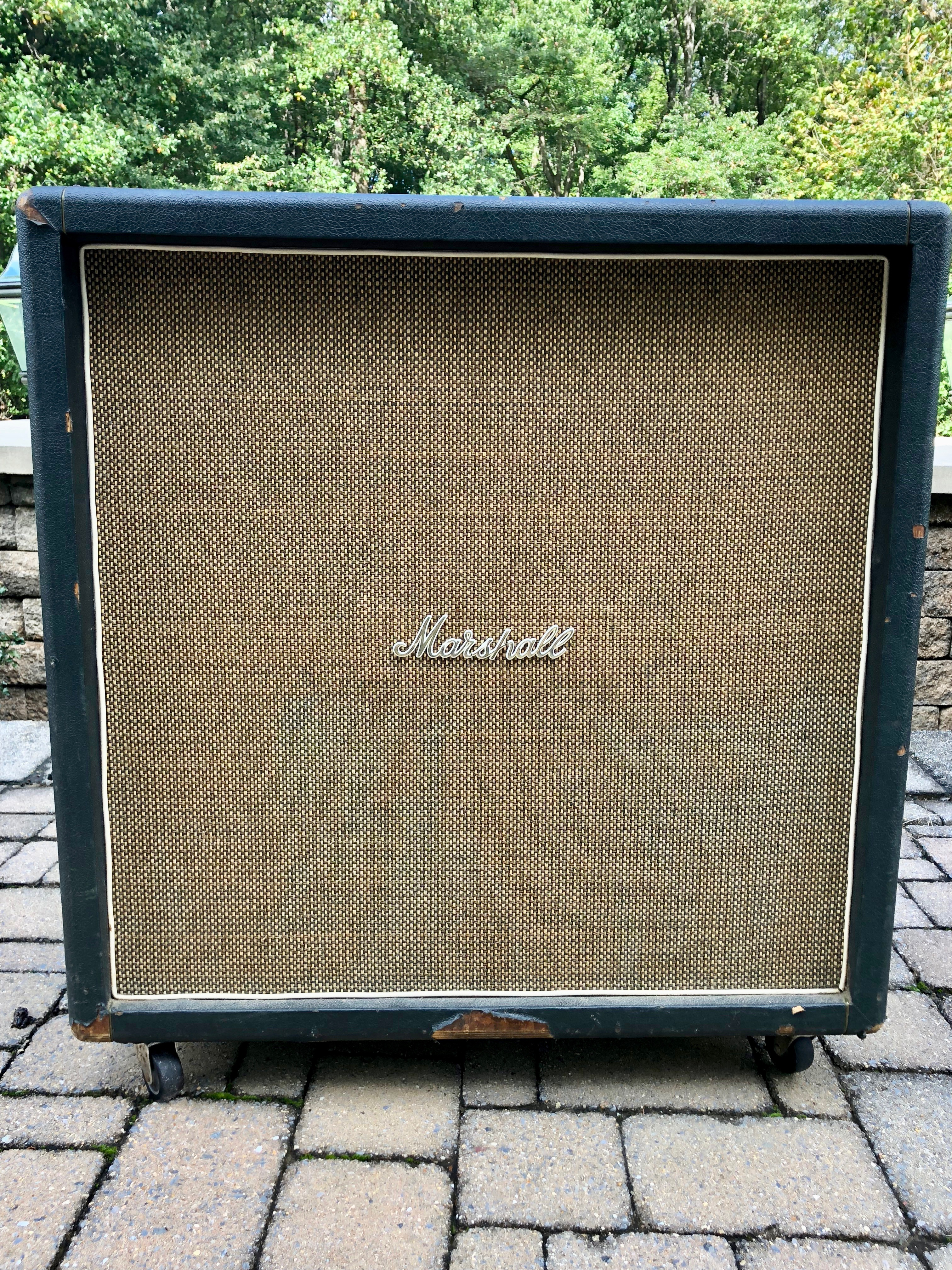 1968 Marshall Cab w/ Celestion Greenbacks 4-12″  THE ONE!