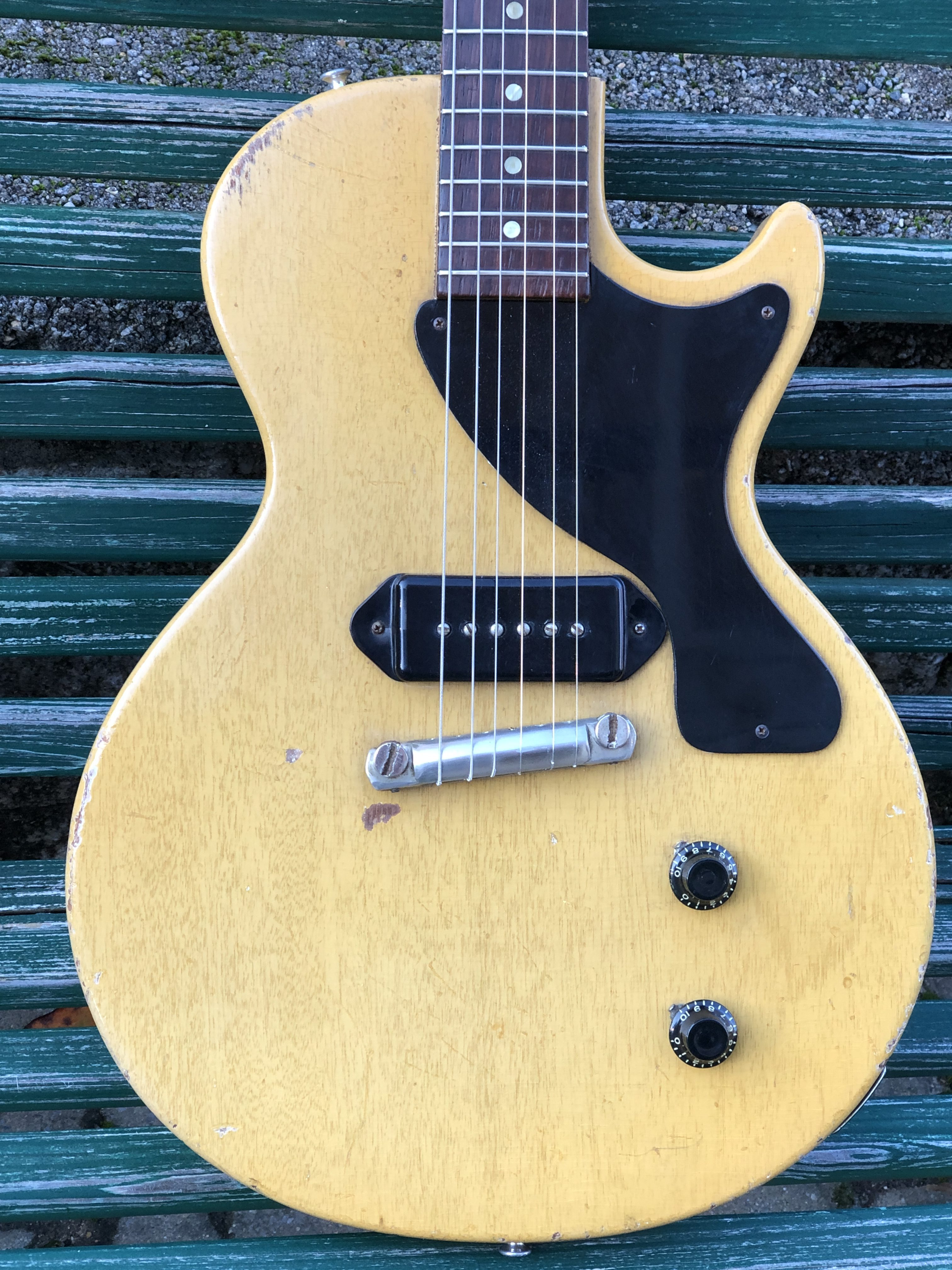 1957 Gibson Les Paul Junior TV YELLOW – All Orig Except Tuners & Case